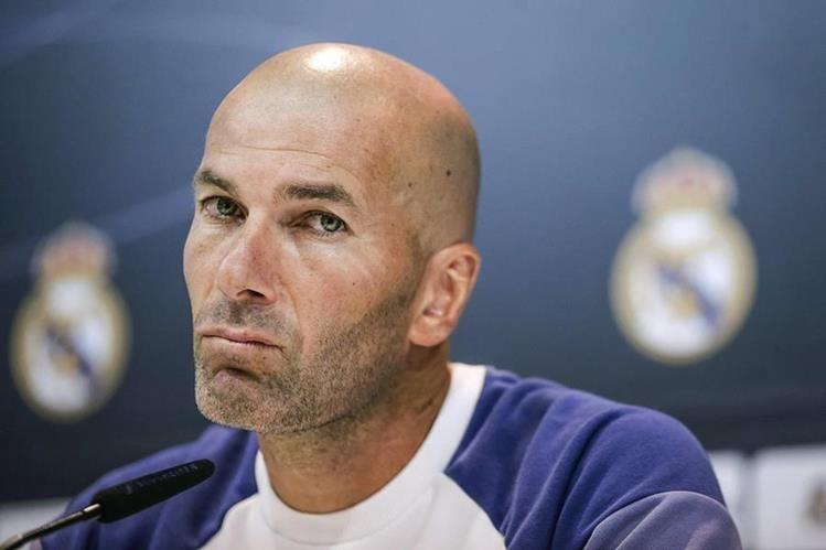 Zinedine Zidane en conferencia de prensa este viernes. (Foto Prensa Libre: EFE)