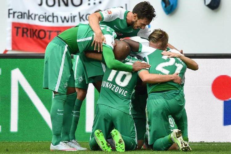 El Werder Bremen consiguió una importante victoria. (Foto Prensa Libre: EFE)