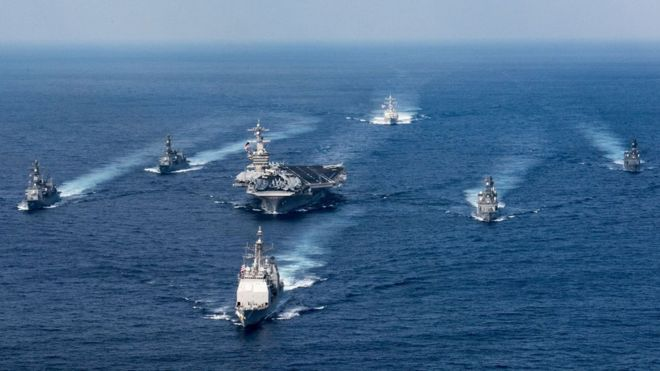 El Grupo de Ataque Carl Vinson tenía programado hacer escalas en Australia antes de ser desviado a la península de Corea. AFP