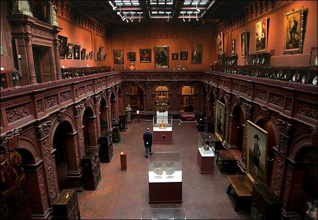 La galería central de la Sociedad Hispana de América.(Foto Prensa Libre: wirednewyork.com)