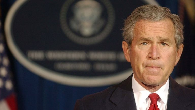 George W. Bush inició las guerras de Afganistán e Irak durante sus mandatos de 2001 a 2009. GETTY IMAGES