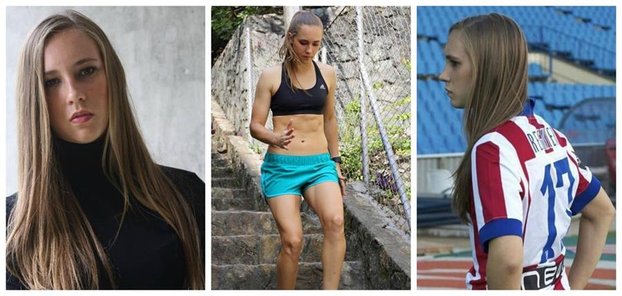 Nicole Regnier es la sensación en el futbol español (Foto Prensa Libre: Facebook Nicole Regnier)