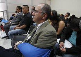 Pedro Muadi durante la audiencia de este martes. (Foto Prensa Libre: Paulo Raquec).