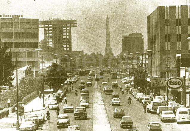 La 7a. avenida de la zona 4 en la década de 1960. (Foto: Hemeroteca PL)