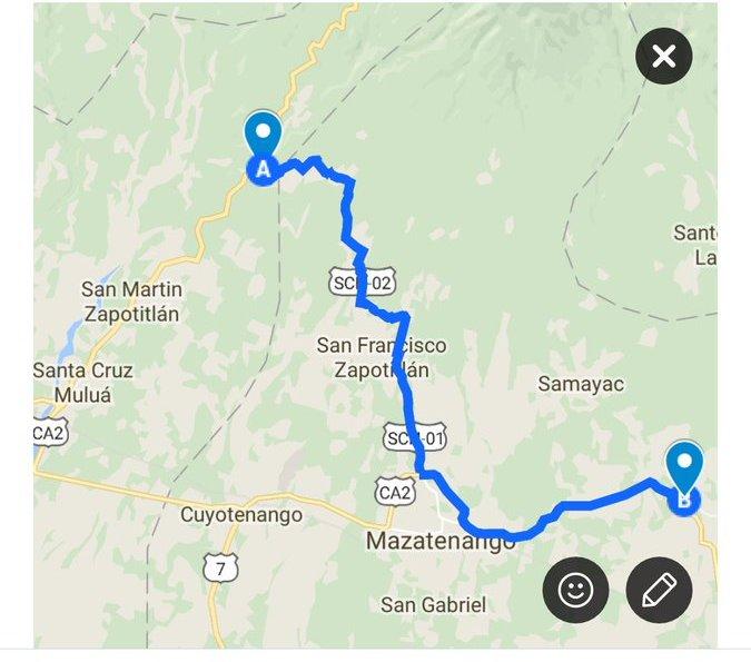 Habilitan ruta alterna para que transportistas puedan llegar a frontera con México. (Foto Prensa Libre: Provial)