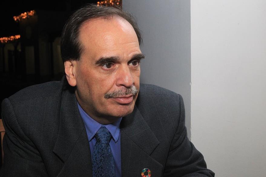 Mario Touchette, representante del Programa Mundial de Alimentos Guatemala. (Foto Prensa Libre, Estuardo Paredes)