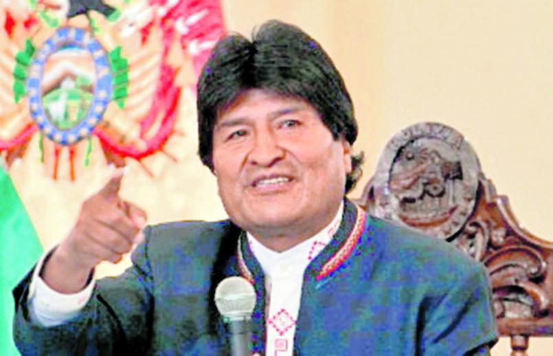 Evo Morales, presidente de Bolivia (Foto: Hemeroteca PL)