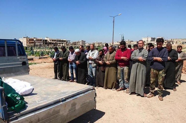 Funeral de las víctimas de la guerra civil siria. (AFP)