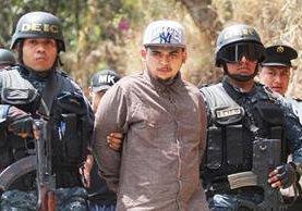 Andy García Vásquez, alias el Fantasma, un jefe del Barrio 18, quien se había fugado de la cárcel de máxima seguridad Fraijanes. (Foto Prensa Libre: Érick Ávila)