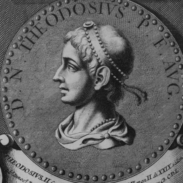 El emperador Teodosio I (379-395) fue quien dividió el imperio romano a la mitad y le dio el poder a sus dos hijos Arcadio y Honorio. (GETTY IMAGES)