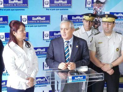 El presidente Otto Pérez Molina dice que no abandonará el cargo ( Foto Prensa Libre: Hemeroteca PL)