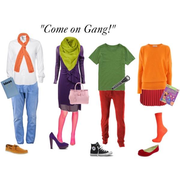 Estos son los elementos básicos para recrear a los personajes de Scooby-Doo. Si no tienes alguna, trata de utilizar otra prenda parecida. (Foto Prensa Libre: Pinterest).