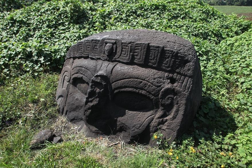 Las Máscaras o Bilbao es un sitio prehispánico ubicado en la finca El Baúl, Santa Lucía Cotzumalguapa, Escuintla.