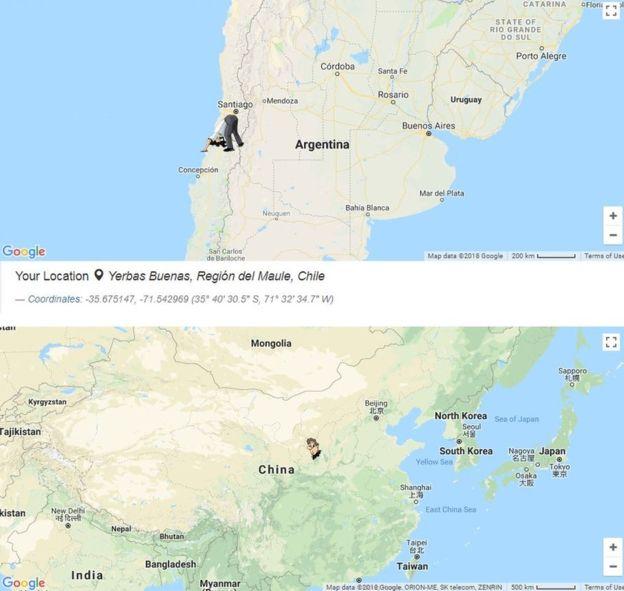 El Mapa de las Antípodas funciona con la base de Google Maps. ANTIPODES MAP