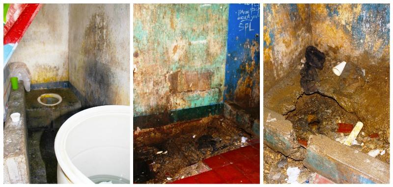 Los servicios sanitarios no son higiénicos ni privados, lo que vulnera los derechos de los menores privados de libertad, según la PDH. (Foto Prensa Libre: PDH)