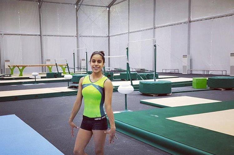 Ana Sofía ya está en Río de Janeiro y se entrena en las instalaciones locales. (Foto Prensa Libre: Facebook Ana Sofía Gómez)