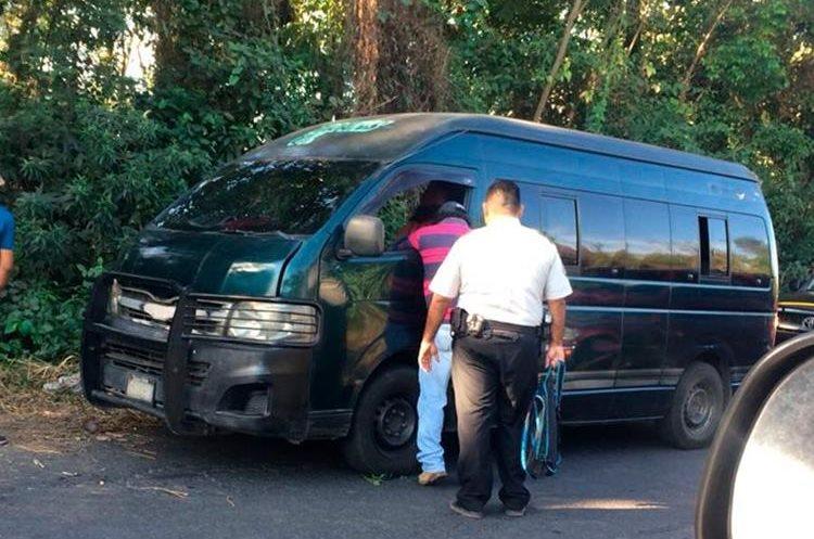 El presunto delincuente intentó atacar a un piloto de rutas cortas que se dirigía de Tecún Umán, San Marcos, hacia Coatepeque, Quetzaltenango. (Foto Prensa Libre: Whitmer Barrera)
