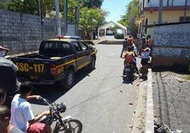Dos dirigentes fueron atacados a balazos en Puerto San José. (Foto Prensa Libre: Enrique Paredes)