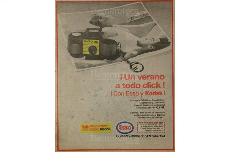 Promoción de una firma expendedora en 1990. (Foto: Hemeroteca PL)