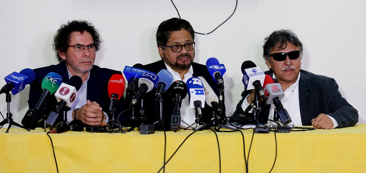 Jefes de las Farc durante las últimas negociaciones de paz. (EFe)