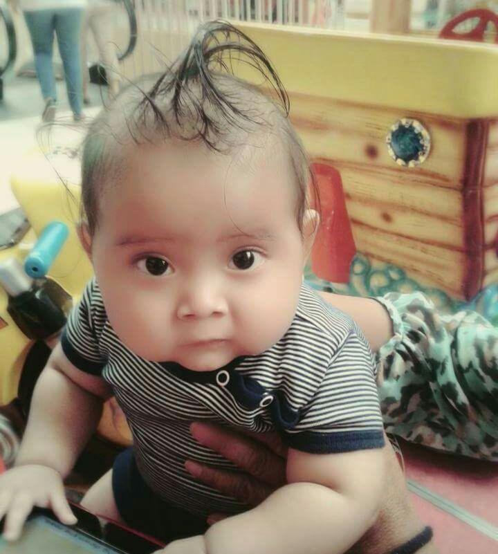 Mauricio André Valdés Ramos, de 10 meses, quien falleció en medio de la polémica. (Foto Prensa Libre: Mario Morales)