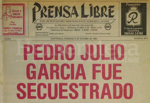 Titular de Prensa Libre del 9/10/1983. (Foto: Hemeroteca PL)