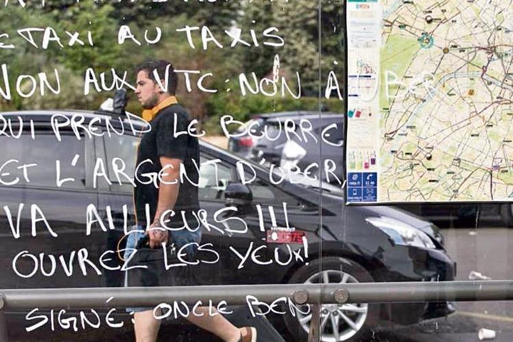 mensajes de rechazo a la aplicación también se pueden ver en Francia.