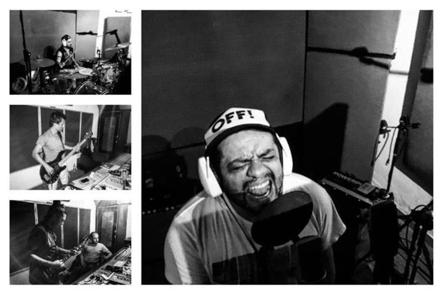 Viernes Verde grabó la canción Huye en en el estudio Yuka N