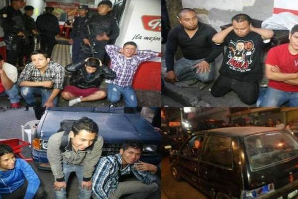 """<p>Diez presuntos delincuentes fueron aprehendidos este día en una cevichería, en la colonia Quinta Samayoa, entre ellos se recapturaron a dos detenidos ayer. (Foto Prensa Libre: PNC)<br _mce_bogus=""""1""""></p>"""