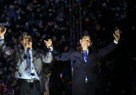 Jimmy Morales, del FCN-Nación, es el presidente electo de Guatemala. (Foto Prensa Libre: Álvaro Interiano)
