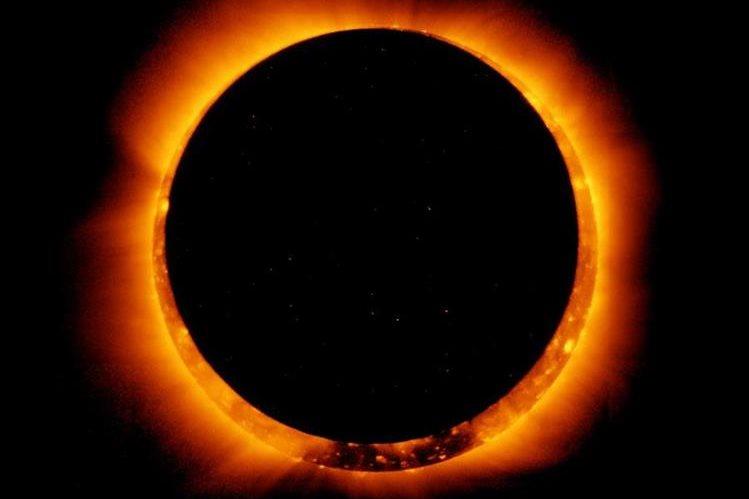 Imagen del primer eclipse anular visto en los EE. UU. desde 1994, el 20 de mayo del 2012. (Foto Prensa Libre: AFP).