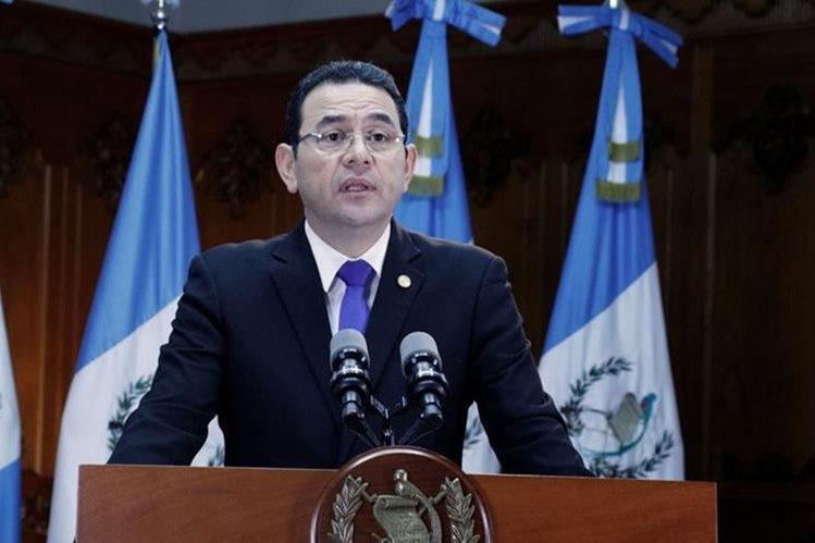 Jimmy Morales envió un mensaje durante la mañana del domingo para anunciar que quería expulsar a Iván Velásquez de Guatemala. (Foto Prensa Libre: Gobierno de Guatemala)