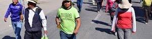 Protesta por proyecto minero en Perú.