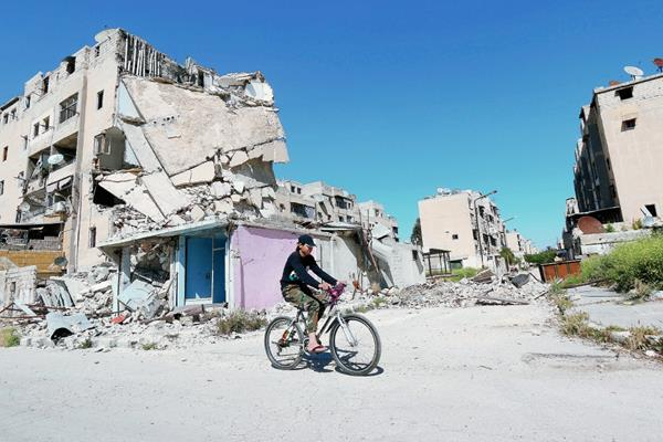 Los enfrentamientos por la guerra civil en Siria han dejado mucha destrucción.