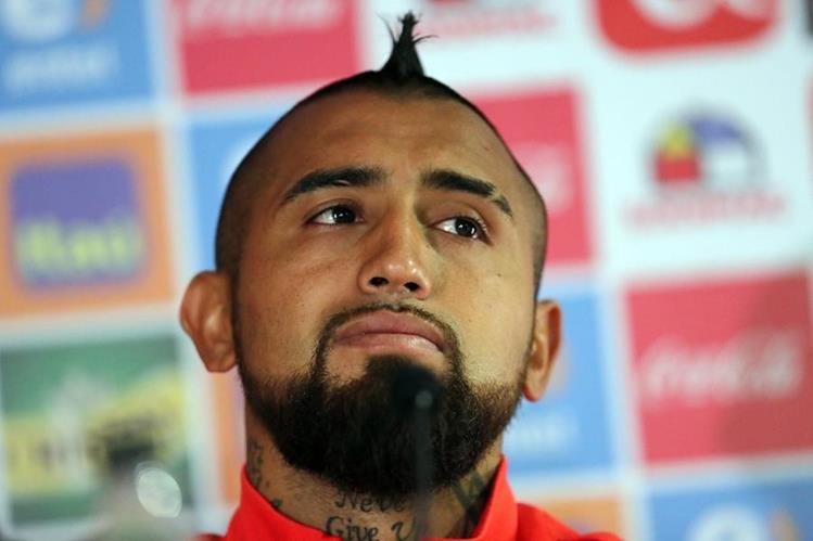 Arturo Vidal mostró su enojo luego de que fuera implicado en un nuevo escándalo en Chile. (Foto Prensa Libre: EFE)