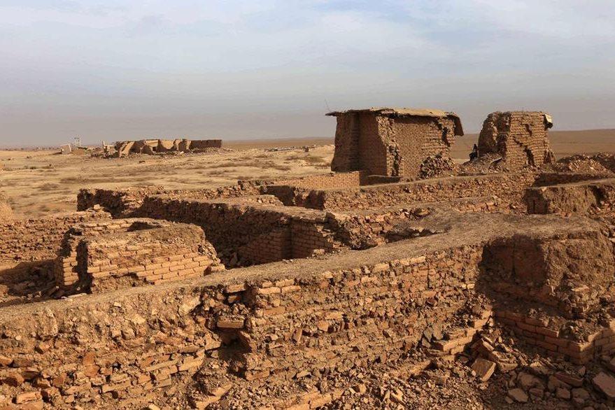 Así luce la ciudad de Nimrud después de la ocupación yihadista. (Foto Prensa Libre: AFP)