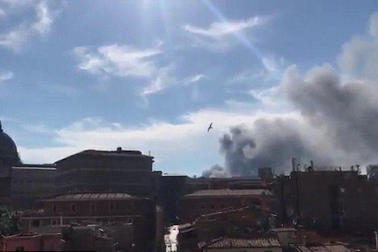 Fuerte incendio ocurrió cerca de Ciudad del Vaticano — Italia