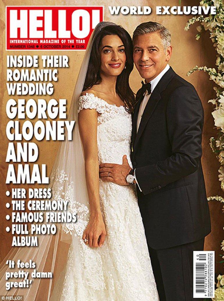 Amal fue la mujer que logró conquistar al soltero más codiciado de Hollywood, George Clooney. (Foto Prensa Libre: Hello!)