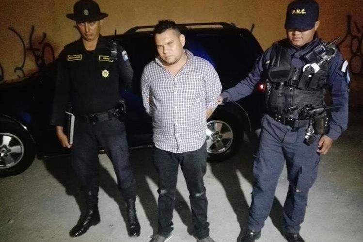 """<span style=""""font-size: 12px;"""">Manuel Antonio Zavala Gutierrez de 28 años fue detenido en el barrio Gerona, zona 1.(Foto Prensa Libre:PNC)</span>"""