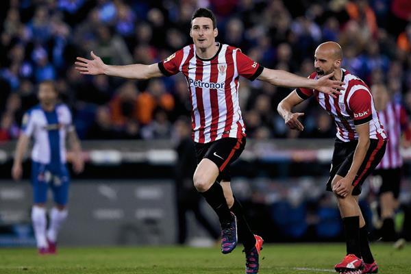 El Atlhetic eliminó al Espanyol y se clasificó a la final de la Copa del Rey. (Foto Prensa Libre: AFP).
