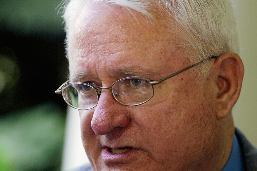 Harris Withbeck, captado luego de una sesión de Gabinete, en septiembre de 2004 (Foto: Hemeroteca PL)