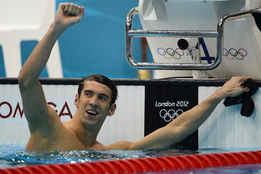 Michael Phelps logró un nuevo récord al convertirse en el mayor ganador de medalla de la historia de las olimpiadas al acumular 22 medallas. (Foto: AFP)