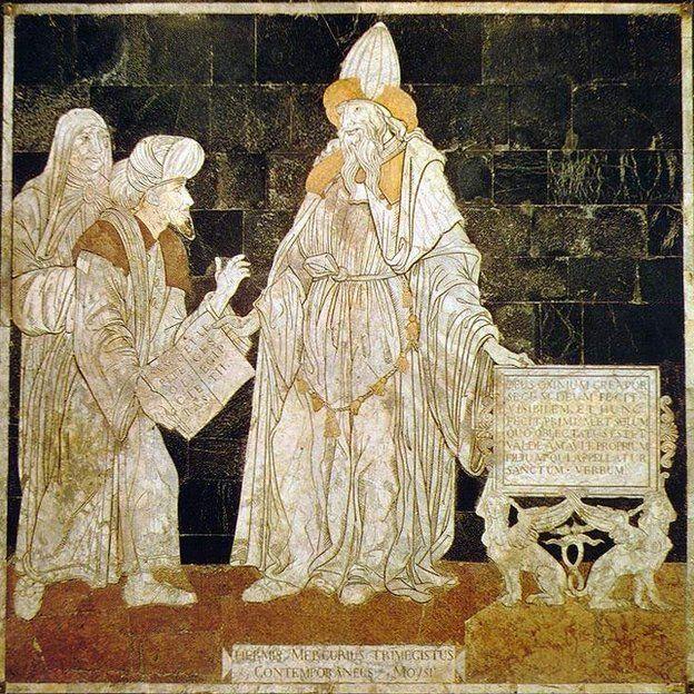 Hermes Trismegisto, el tres veces grande, en este mosaico en la Catedral de Siena. CREATIVE COMMONS