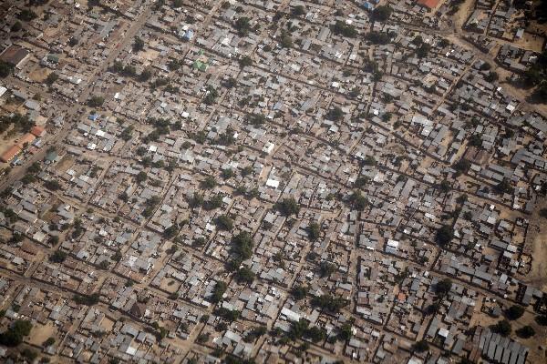Una vista aérea de Maiduguri, Nigeria. Maiduguri fue una vez fortaleza deBoko Haram.(AFP).