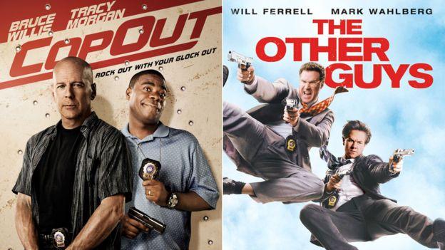 """""""Dos inútiles en patrulla"""" y """"Policías de repuesto"""" tienen dos guiones diferentes, pero el argumento es casi el mismo. WARNER/COLUMBIA"""