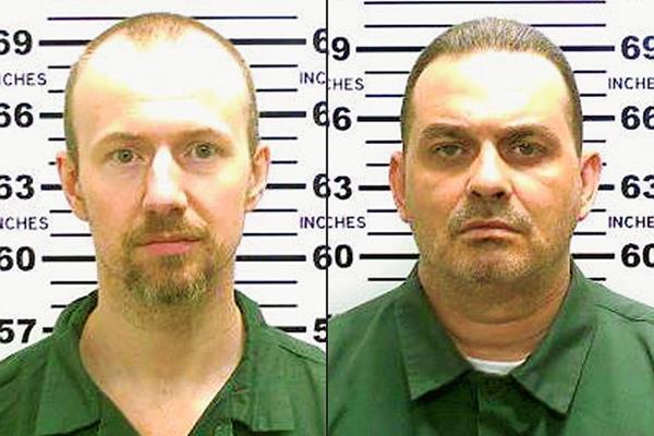 David Sweat (izquierda), y Richard Matt (derecha), los reos que se fugaron de la correccional Clinton en Nueva York, las fotografías fueron distribuidas por la Policía. (Foto Prensa Libre: AP).