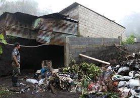 Las lluvias han causado daños en viviendas, carreteras y cultivos. (Foto Prensa Libre: Enrique Paredes)