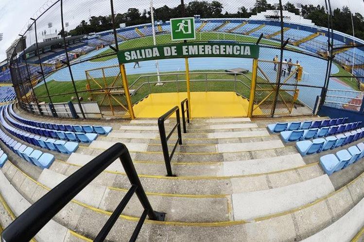 Vista panorámica del coloso de la zona 5, que se reporta listo para albergar juegos de la Sele. (Foto Prensa Libre: Francisco Sánchez)