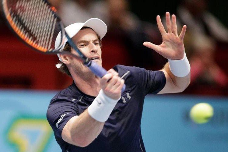 Andy Murray, durante el partido de este jueves. (Foto Prensa Libre: AFP)