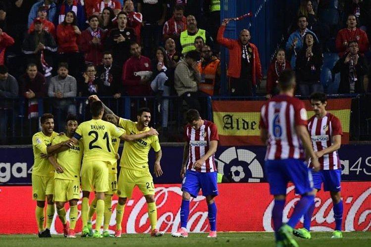 El delantero Roberto Soriano se encargó de anotar el gol del triunfo del Villarreal en el duelo frente al Atlético de Madrid. (Foto Prensa Libre: EFE)